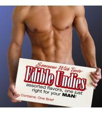 Male Edible Brief - Chocolate