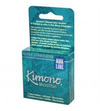 Kimono Microthin Plus Aqua Lube - 3 Pack