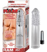 Ram Vibrating Penis Extender - Clear